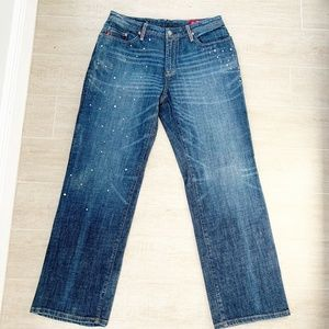 SEVEN 7 FOR ALL MANKIND DISTRESSED WOMENS BOOTCUT